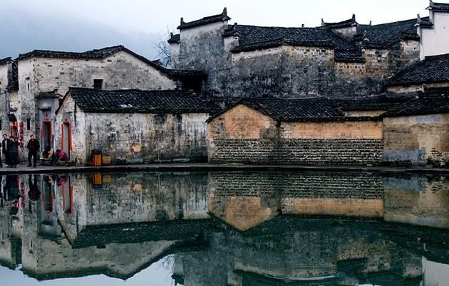 徽州古情:古建三絕水中影