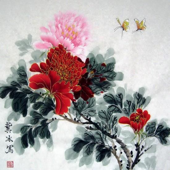 冀冰现代新工笔花鸟画廊作品欣赏