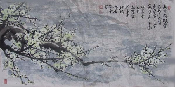 重视绘画的书写性,把点线面黑白灰等要素有机的结合起来,凸显中国画的