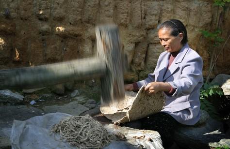 贵州印江蔡伦古法造纸 元明清绵延五百余年