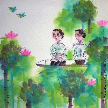 博古斋画廊人物画作品欣赏