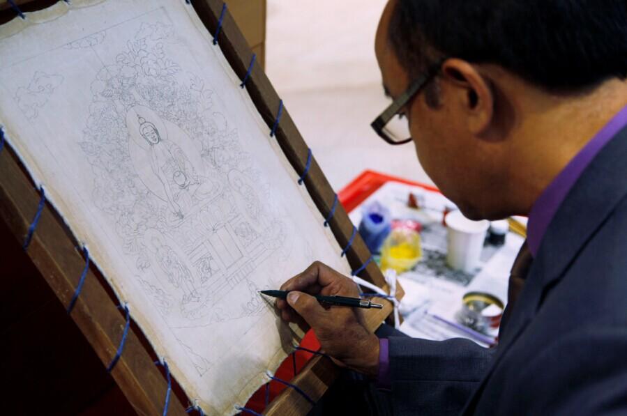 穿越喜马拉雅的友谊象征:尼泊尔——中国唐卡展在京举办