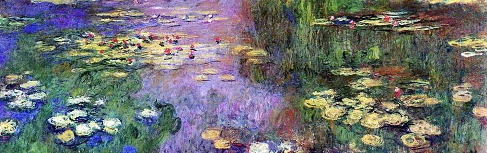 这幅画曾于 1909 年作为莫奈水景系列画的一部分现身杜兰·鲁埃