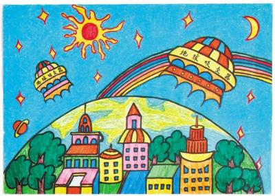 畅想未来图画-妇女儿童博物馆展儿童创意