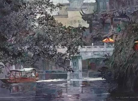 水彩画里的美丽中国 组图