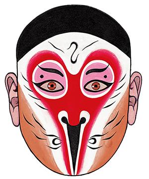 在进行脸谱彩绘的过程中,他多方搜求资料,整理了许多戏曲名家的脸谱谱