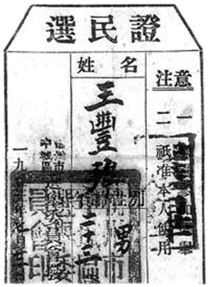 珍贵文物:1953年的选民证