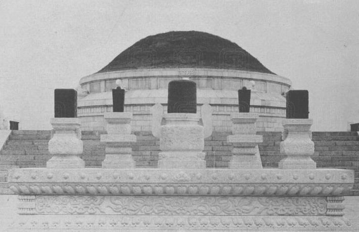 民国时期的河南袁世凯墓:规模宏大堪比皇陵