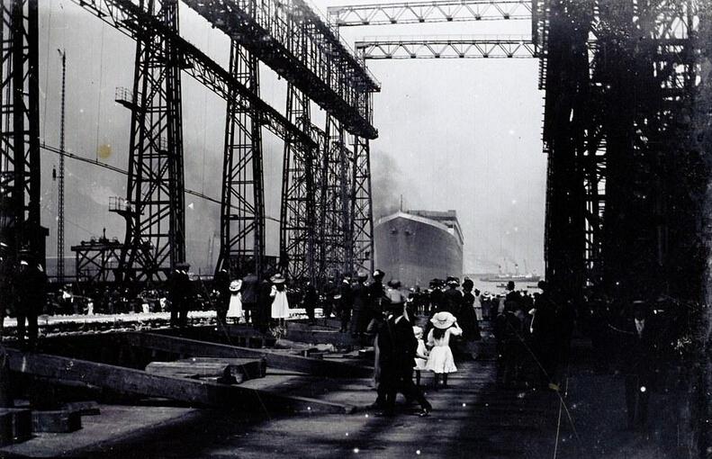 泰坦尼克号未曝光试水旧照