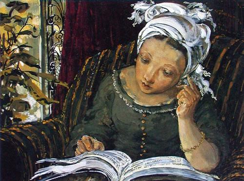 夏俊娜油画作品欣赏