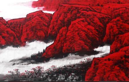 高劲松中国红系列作品