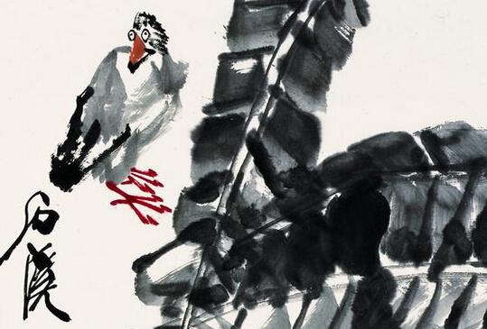 石溪花鸟画作品