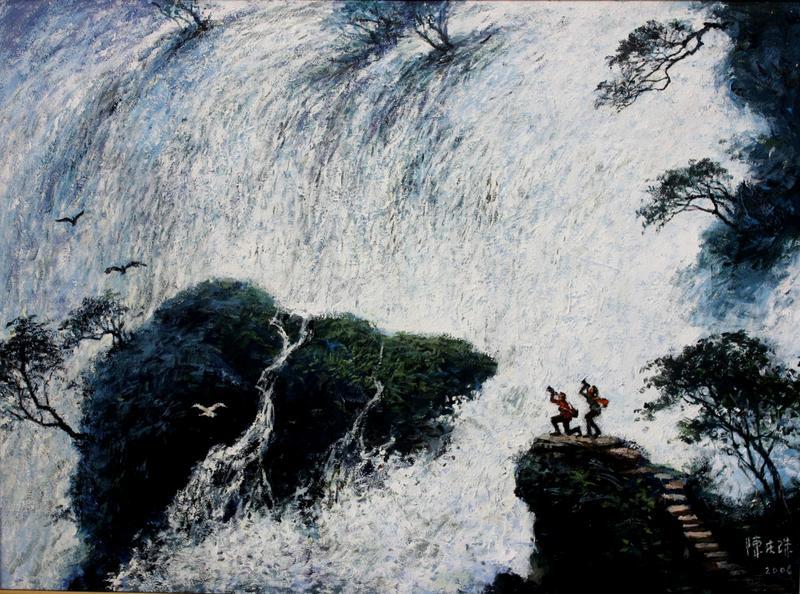 山魂61陈庆珠风景油画作品-中国文物网-文博收藏