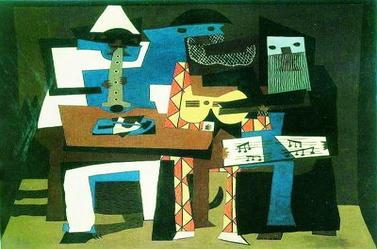 品读毕加索的作品《三个音乐家》