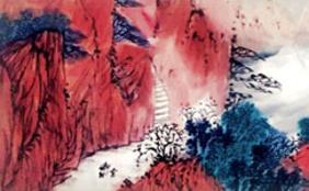 读青年画家连润升的山水画