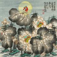 京城苏氏三人书画 于静静写慢慢画中飞扬笔墨