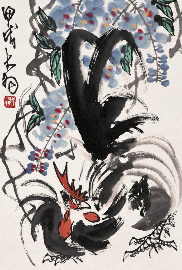 齐白石《七鸡图》暗指七七事变 盘点国画中的鸡