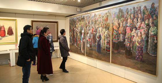 雪域高原——蔚国银油画巡展第59站在北航艺术馆举行