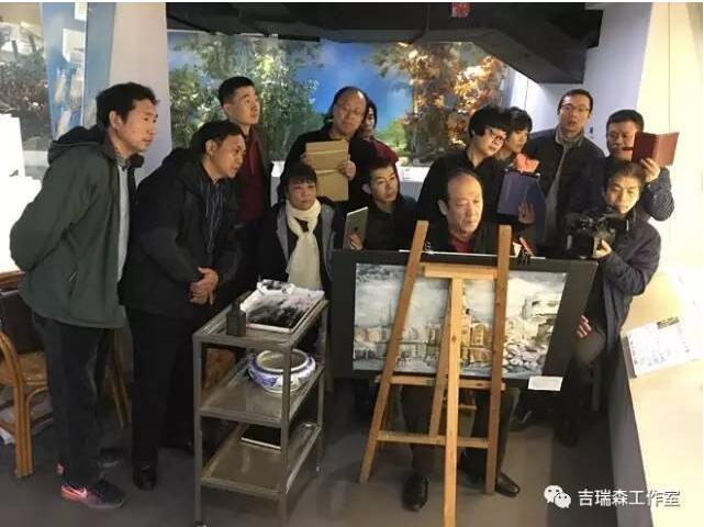 吉瑞森工作室青岛滨海学院采风教学实录