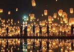 泰国:3000盏灯笼放飞夜空