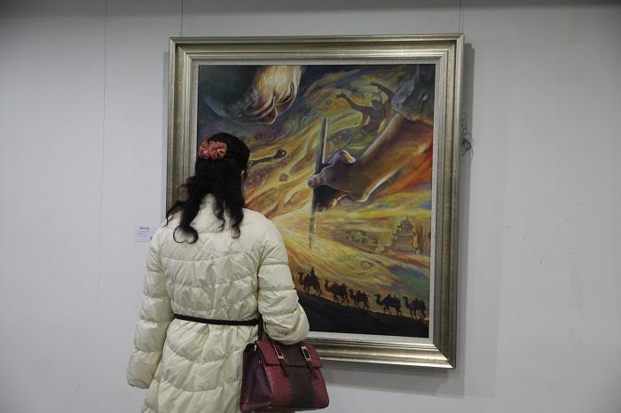 中国水墨与西方油画的交汇融合