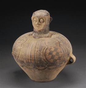 马家窑文化人物彩陶罐-图片版权归原作者所有