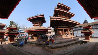 刘奇葆视察尼泊尔加德满都杜巴广场九层神庙保护修复项目