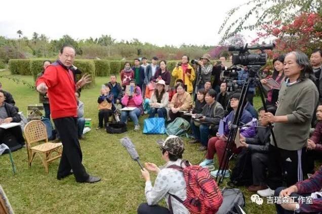 《劲节铁骨 浩气凌云》-吉瑞森教授为人民大会堂创作巨幅竹子作品