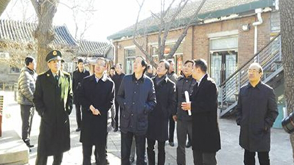 刘玉珠局长检查北京市文物安全工作