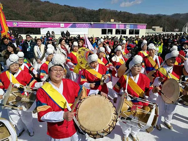 中国媒体报道团探访2018韩国平昌冬奥会倒计时一周年庆典活动