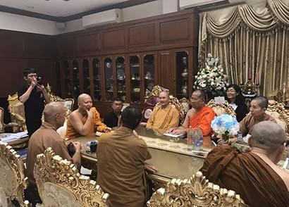 增进海丝佛教文化交流 闽港澳佛教界代表访问泰国