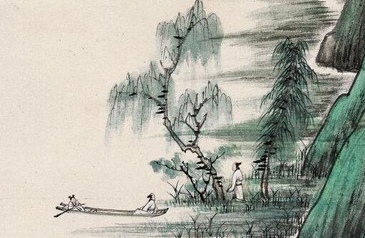 张大千青绿山水