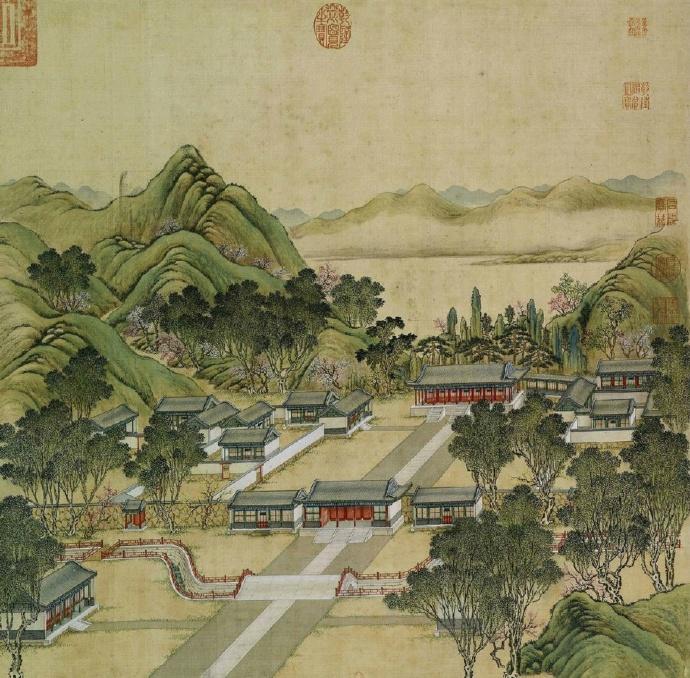 画里的中式风景:工笔圆明园