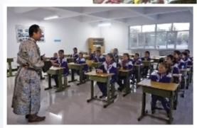 """丹·道日吉在锡林浩特市蒙古族小学开设了""""潮尔道""""传承班-图片版权归原作者所有"""