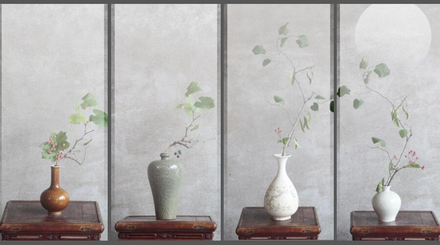 古瓷插花:花影婆娑尽显古雅华丽之美
