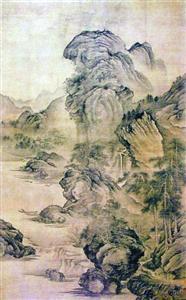 刘海粟收藏的关仝 《溪山幽居图》-图片版权归原作者所有