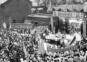 大跃进时期东北工厂的生活照