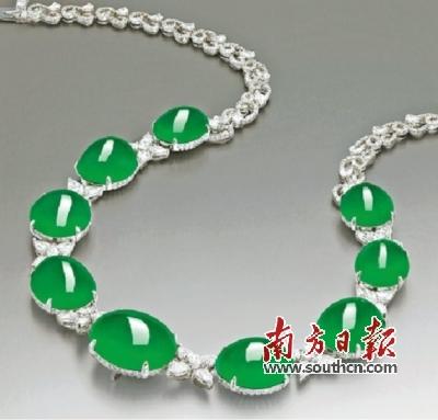 顶级珠宝收藏市场回暖 翡翠首饰拍出1亿港元