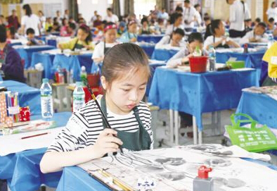 安福县青少年书画大赛精彩落幕