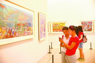 全国农民画创作展亮相中国美术馆