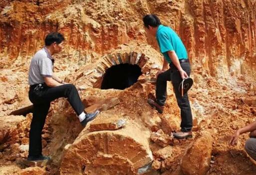 福清海口镇发现千年古墓 当地首次发现鱼纹砖