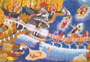 邳州3幅农民画迈入中国美术馆