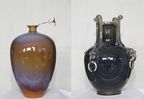 李增平作品: 窑变橄榄瓶 ,四耳窑变瓶-图片版权归原作者所有
