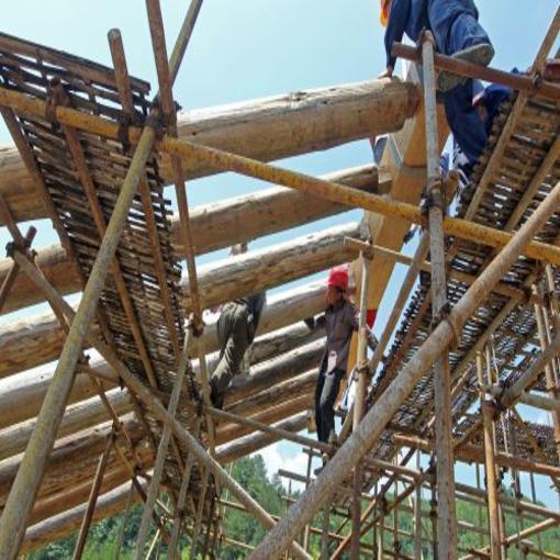 泰顺文兴桥修复工程进入搭建桥架阶段
