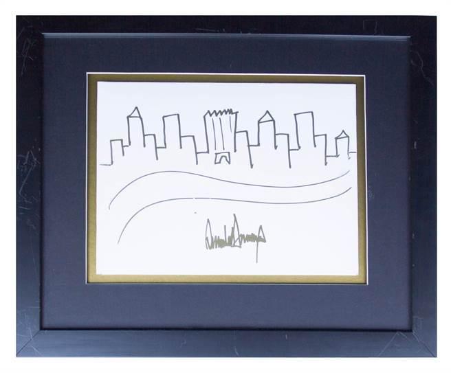特朗普即兴手绘纽约轮廓画将拍卖 起拍价9000美元