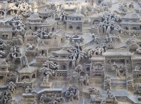 扬州现代砖雕《百子闹春》赏析