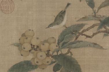 林椿枇杷山鸟图页赏析