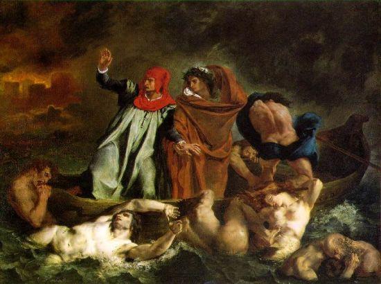 德拉克洛瓦的《但丁和维吉尔共渡冥河》赏析