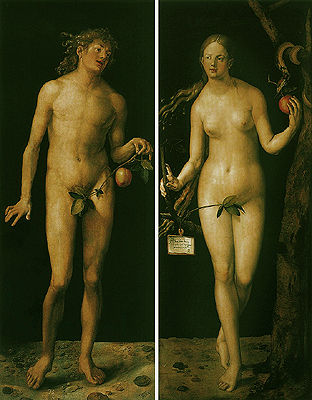 丢勒的《亚当和夏娃》赏析