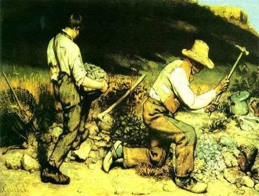 库尔贝:《采石工人》赏析
